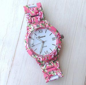 "Часы ""Geneva Platinum Flowers"" - Rose"