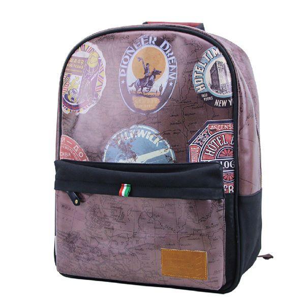 """Большой кожаный рюкзак """"Travel Memories"""" - Truffle"""