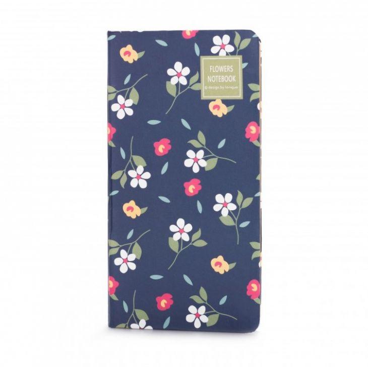 Блокнот «Flowers Notebook» - Navy