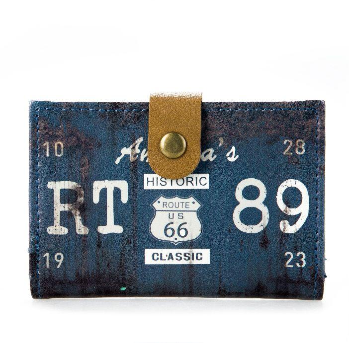 Визитница «Historic Route 66» - Deep Blue