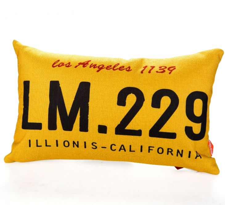 Декоративная подушка «Car Number» - Los Angeles