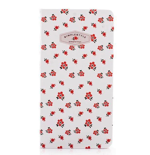 Нелинованный блокнот «Simple Style» - Red Flowers