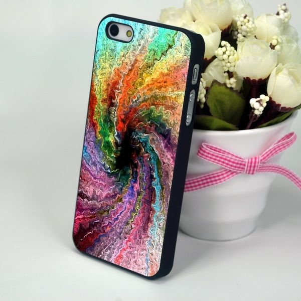 "Пластиковая панель для iPhone 4, 4S ""Paint Whirlpool"""