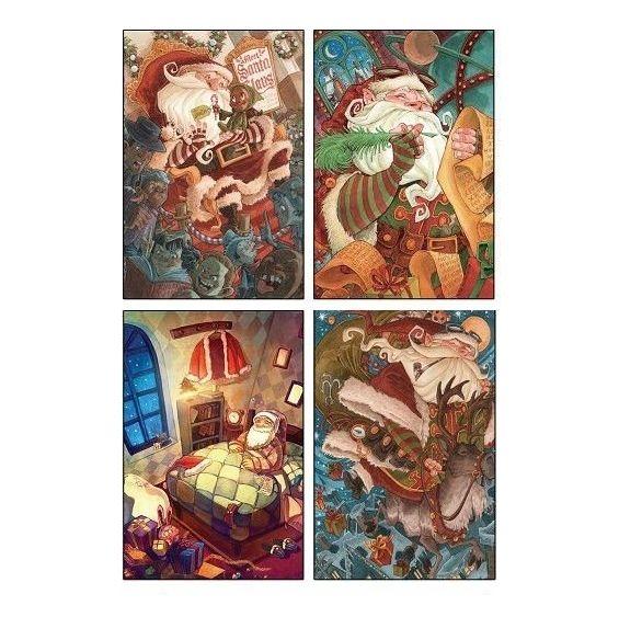 """Набор новогодних открыток """"Meet Santa Claus"""""""