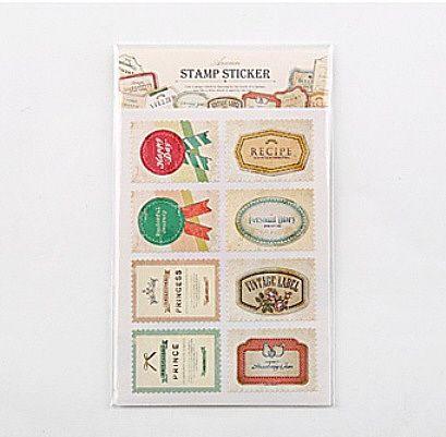 "Набор наклеек ""Ancien Stamp Sticker"" – Label"
