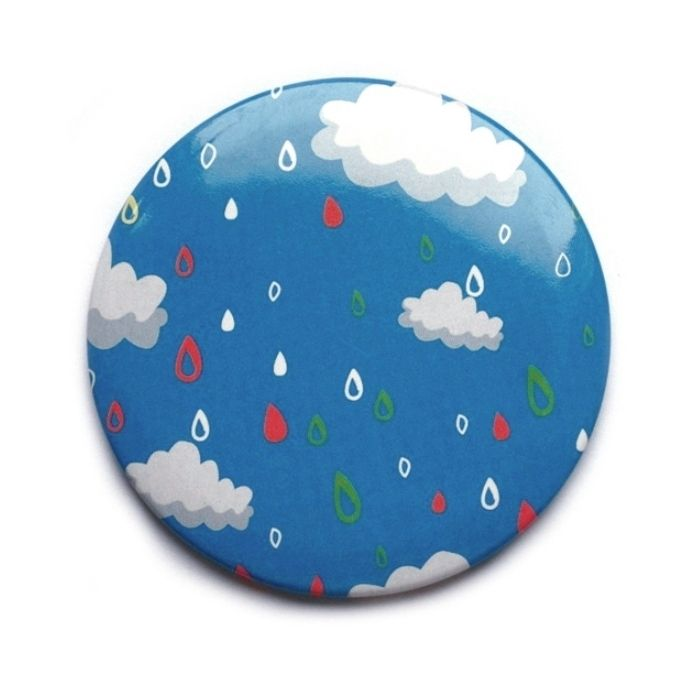 "Компактное зеркало ""Blue Dreams"" - Color Rain"