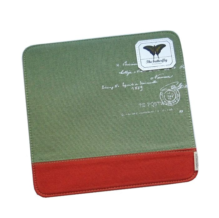 """Коврик для мышки """"Butterfly Letter"""" - Green"""