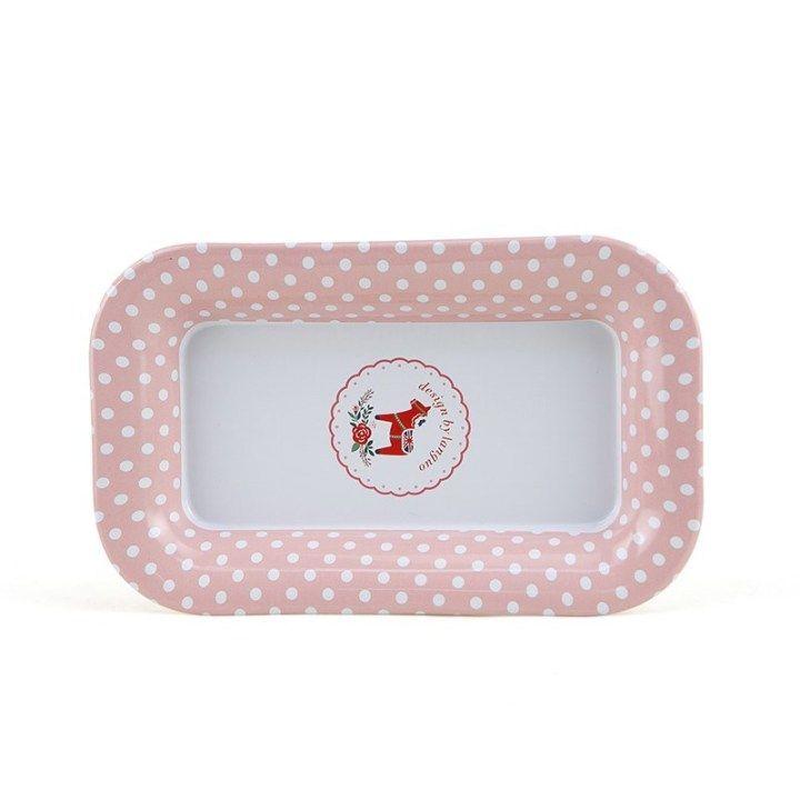 Металлическая тарелка «Pony» - Pink
