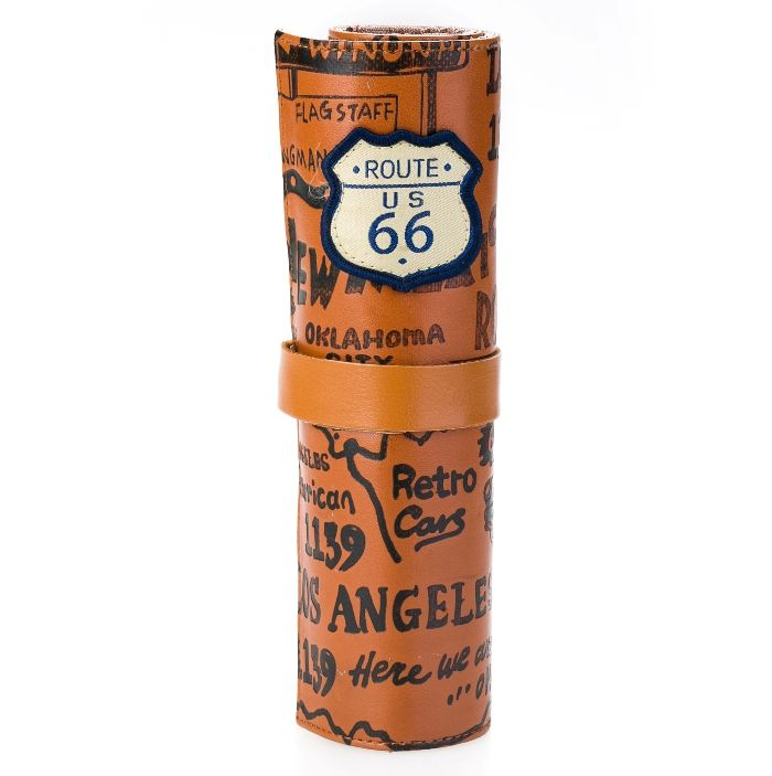 Кожаный пенал «Route 66» - Brown