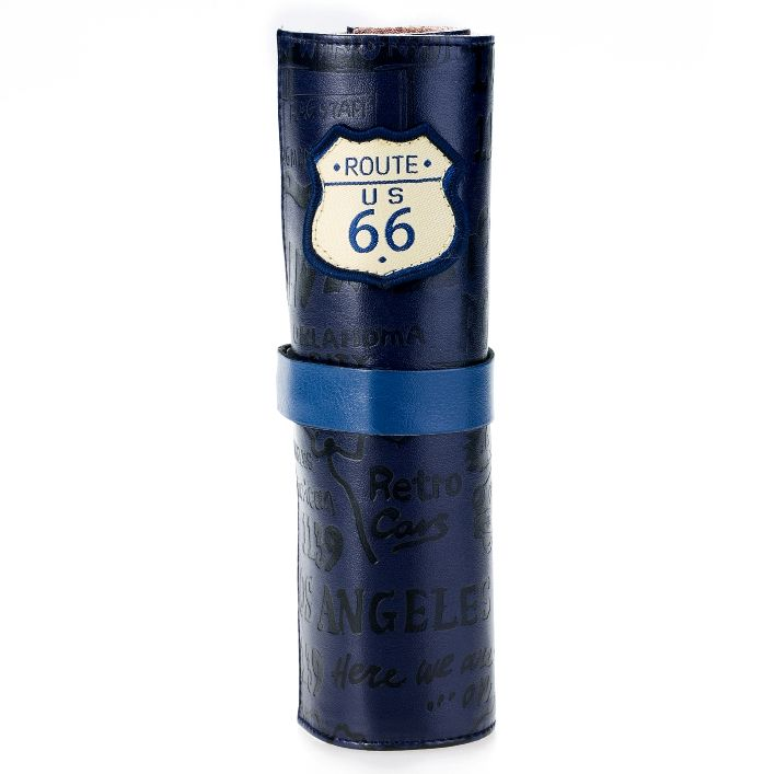 Кожаный пенал «Route 66» - Dark Blue