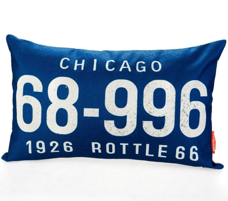 Декоративная подушка «Car Number» - Chicago