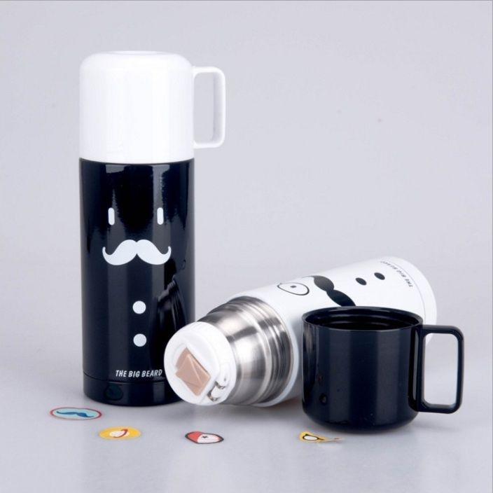 Термос с чашкой «Gentleman» - Чёрный