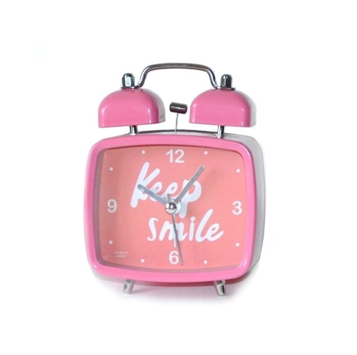 Настольный будильник «Keep Smile» - Pink