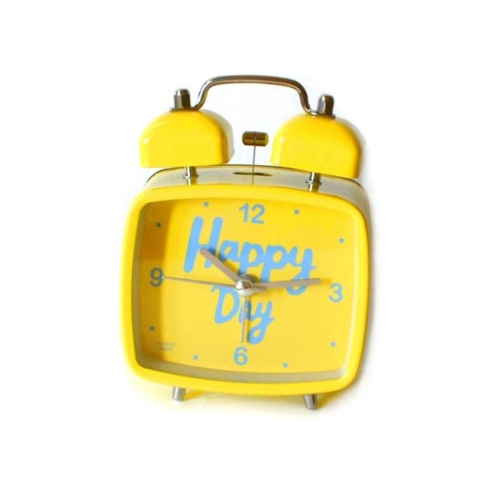 Настольный будильник «Happy Day» - Yellow